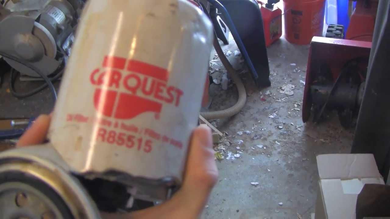 Carquest Red Oil Filter Cut Open