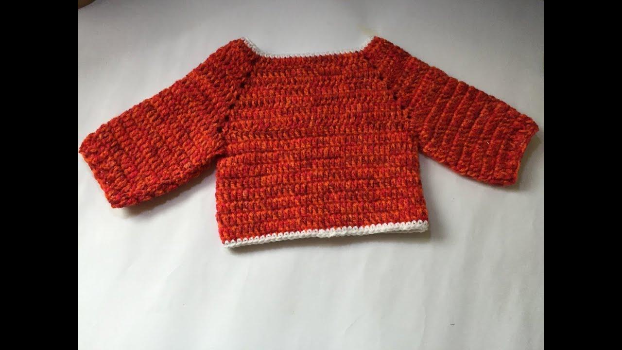 Turbo Tuto pull au crochet facile special gaucher - YouTube CY25