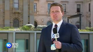 Ten News First at Five Melbourne Richard Riordan - Crisp Chairs Meeting - Someone is lying.