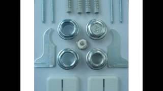видео Арматура для подключения радиаторов, комплект футорок для радиатора