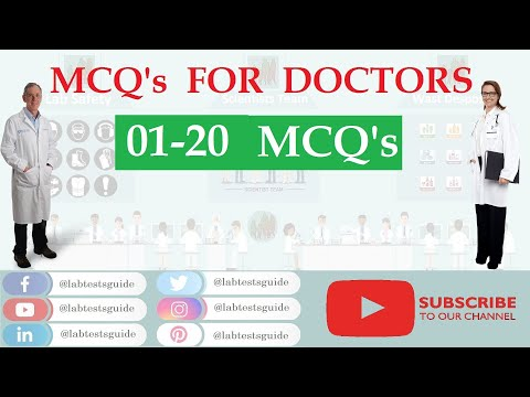 MCQ's For Doctors and Medical Students   01 -  20 Multiple Choice and There Answers