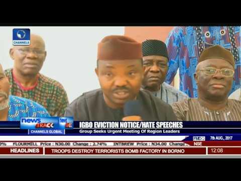 Igbo Eviction Notice/Hate Speeches: Group Seeks Urgent Meeting Of Region Leaders