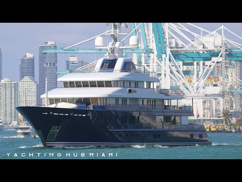 Miami Yachts and Boats - 12 of the largest yachts I saw on the last day of the Boat Show 2020 - 4K
