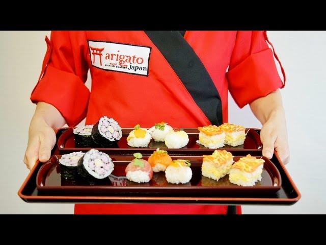 SUSHI SET: FUTOMAKI - OSHIZUSHI - TEMARIZUSHI Come prepararli a casa vostra