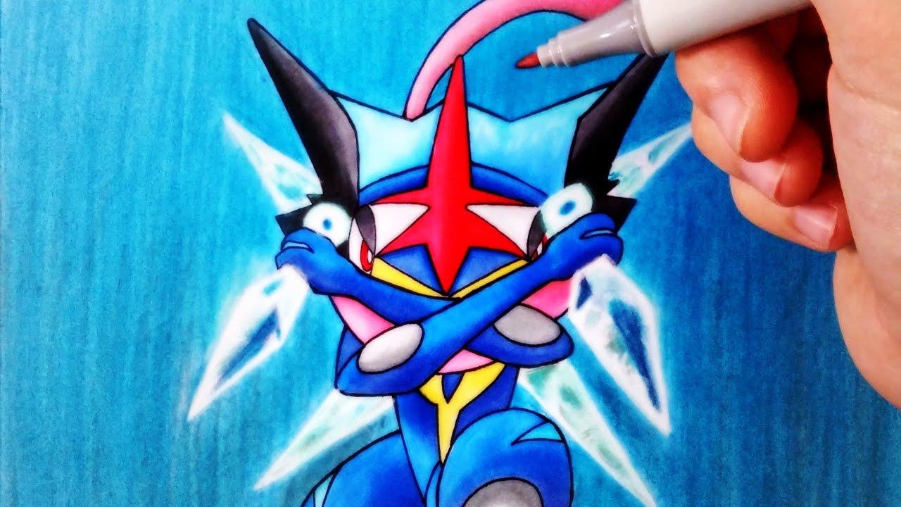 Cómo Dibujar a Greninja Ash | Pokemon | ArteMaster - YouTube