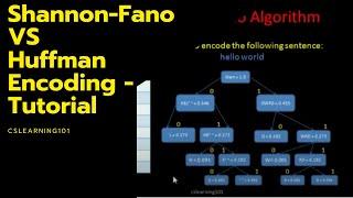 Shannon-Fano VS Huffman Encoding - Tutorial