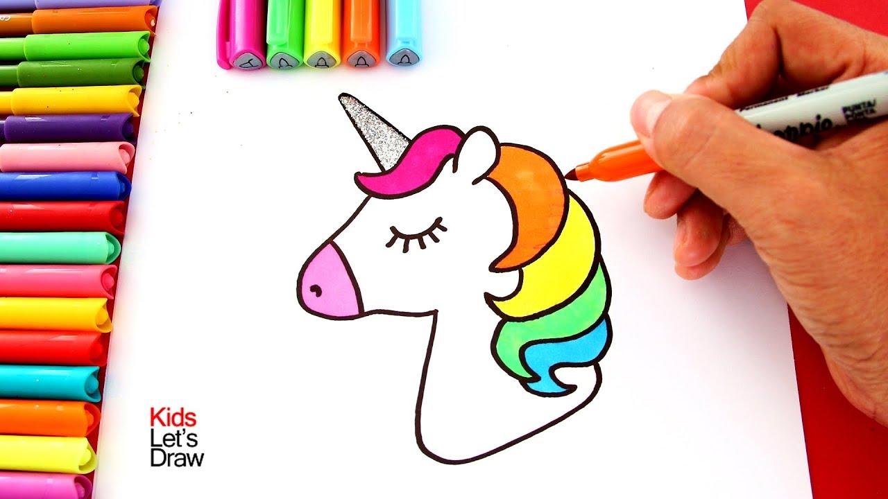 Una Forma Fácil De Dibujar Y Pintar Un Unicornio Usando Marcadores Plumones Youtube