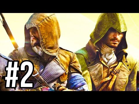 Assassin's Creed Unity Co-Op Gameplay #2 - THE DANGEROUS GIRL!! (Mission 2 PS4/XB1 1080p HD)