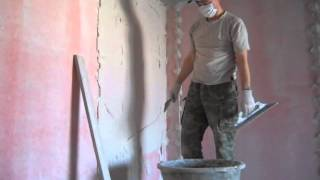 Штукатурка стен в квартире(Штукатурка по маякам Ротбантом Подробная статья про штукатурку http://obiclub.ru/personal/8618/articles/detail?id=4187., 2013-03-07T14:51:41.000Z)