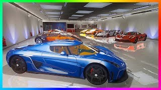 My 2018 ULTIMATE GTA Online Garage Tour - Over 200+ Cars \u0026 Vehicles!