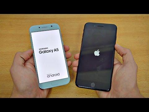 Samsung Galaxy A5 (2017) vs iPhone 7 Plus - Speed Test! (4K)