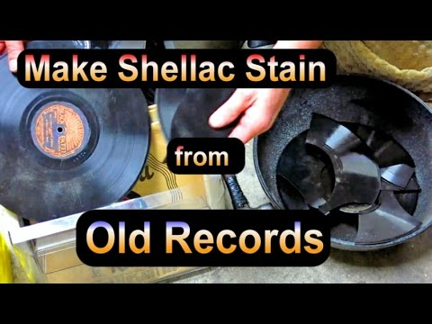 Make Shellac Wood Stain from Old 78 rpm Records!