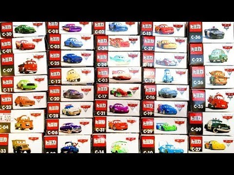 cars movie diecast complete collection cars 2 pixar toys takara tomy disney youtube. Black Bedroom Furniture Sets. Home Design Ideas