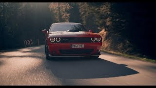 Dodge Challenger R/T tearing up the mountainroads [4K]