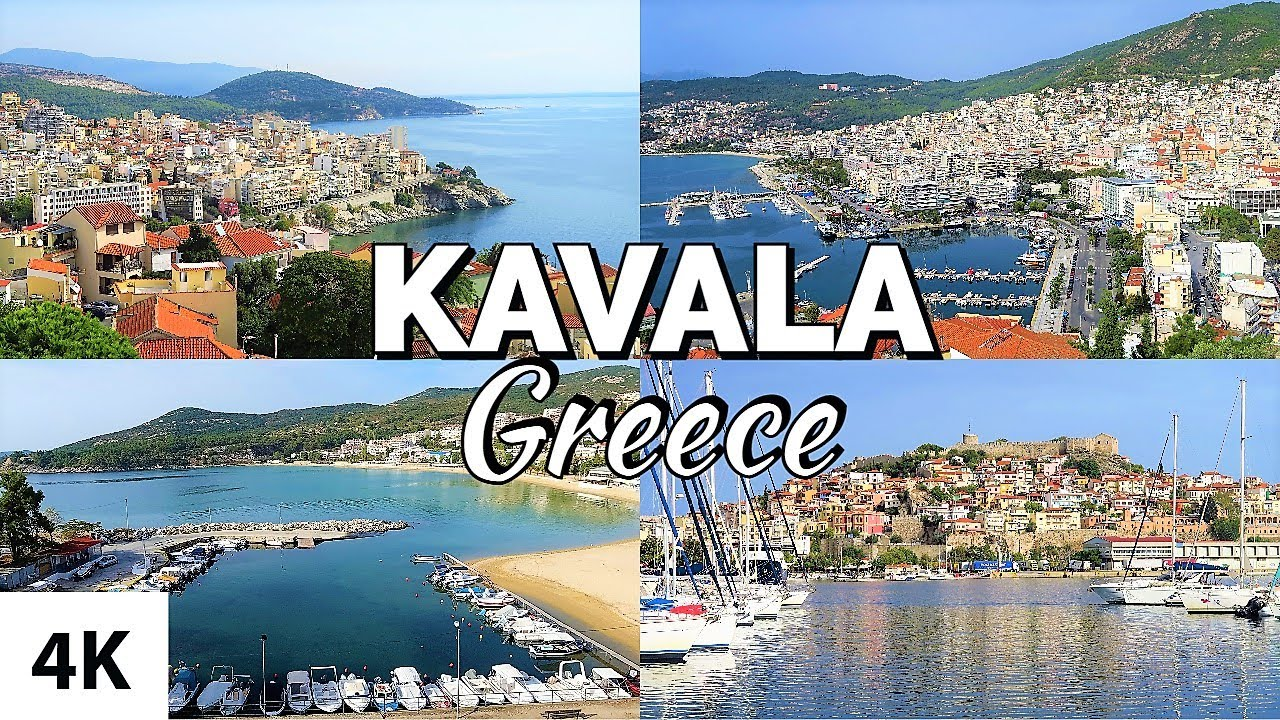 KAVALA City Tour 4K ( feat. Nea Iraklitsa, Nea Peramos and Philippi ) Greece