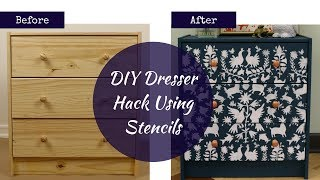 How To Affordably Makeover an Ikea Dresser With a Gorgeous Otomi Stencil!