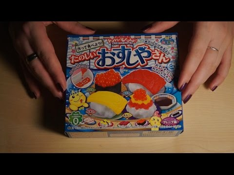 Binaural ASMR/Whisper. Sushi Candy Making Kit (Crinkles, Water Sounds, No Eating)