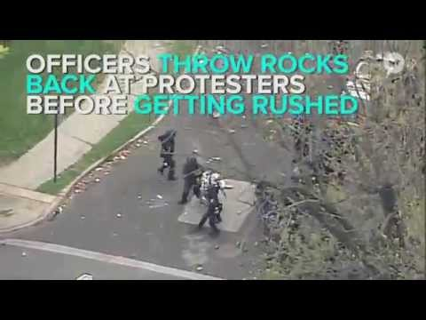 Baltimore state of emergency declared as Freddie Gray protesters clash with police