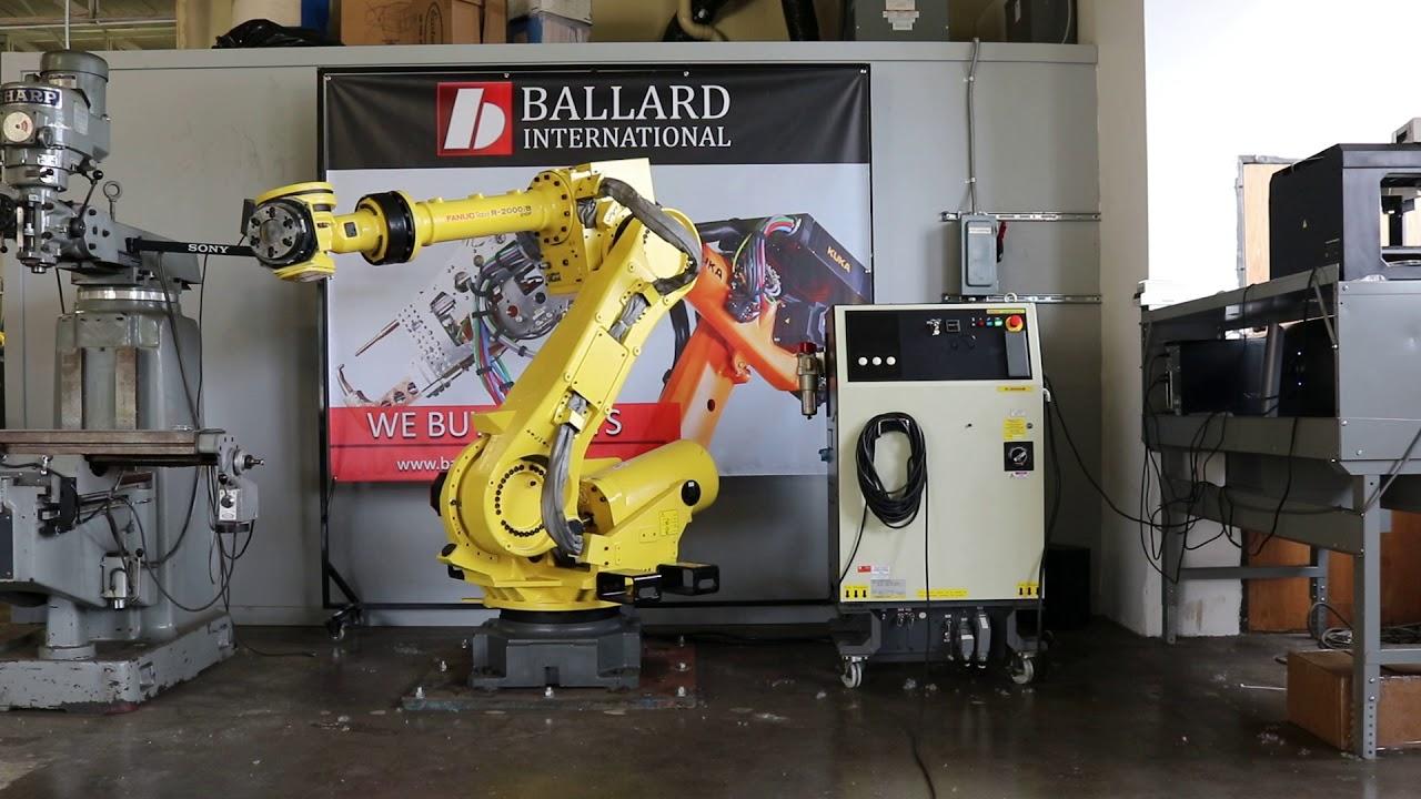 ballard international - fanuc r-2000ib 210f robot test - youtube