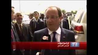 """تصريح خاص للرئيس الفرسي فرانسوا هولاند لـ """"مدي1تيفي"""" على هامش تنصيب الرئيس المالي الجديد"""