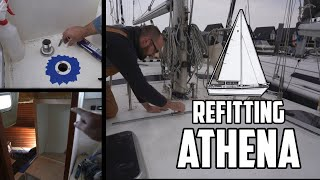 Sail Life - Sails bend on, staysail track, deck fills & Ava's shoe locker - DIY boat project