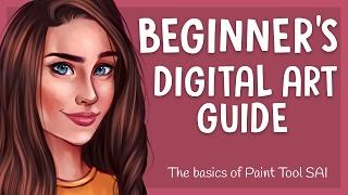 BEGINNER'S DIGITAL ART GUIDE #1   Paint Tool SAI - Basic Tools   Jenna Drawing
