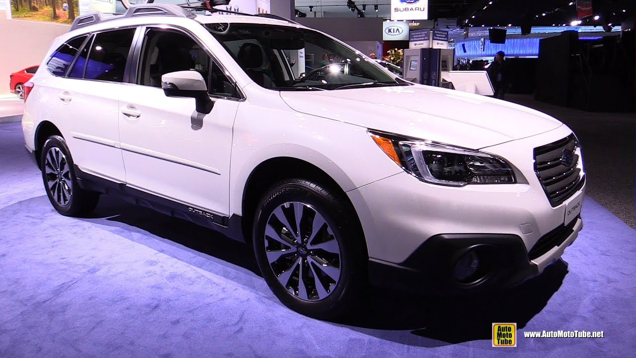 2016 subaru outback 3 6r limited exterior and interior walkaround 2016 detroit auto show. Black Bedroom Furniture Sets. Home Design Ideas
