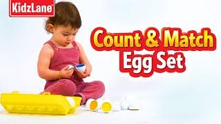 Kidzlane Educational Count & Match Egg Set Toy