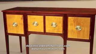 Hepplewhite Sideboard Handmade By Doucette And Wolfe Furniture Makers