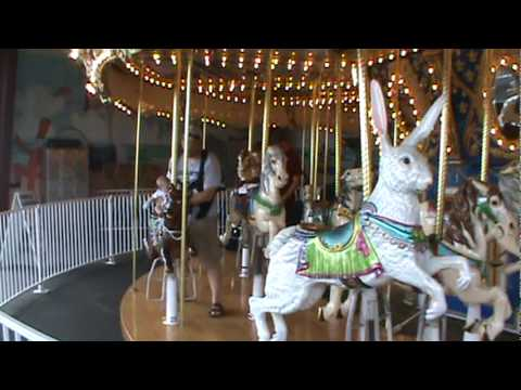 Desmond And Friends Ride The Carousel In Old Orchard Beach
