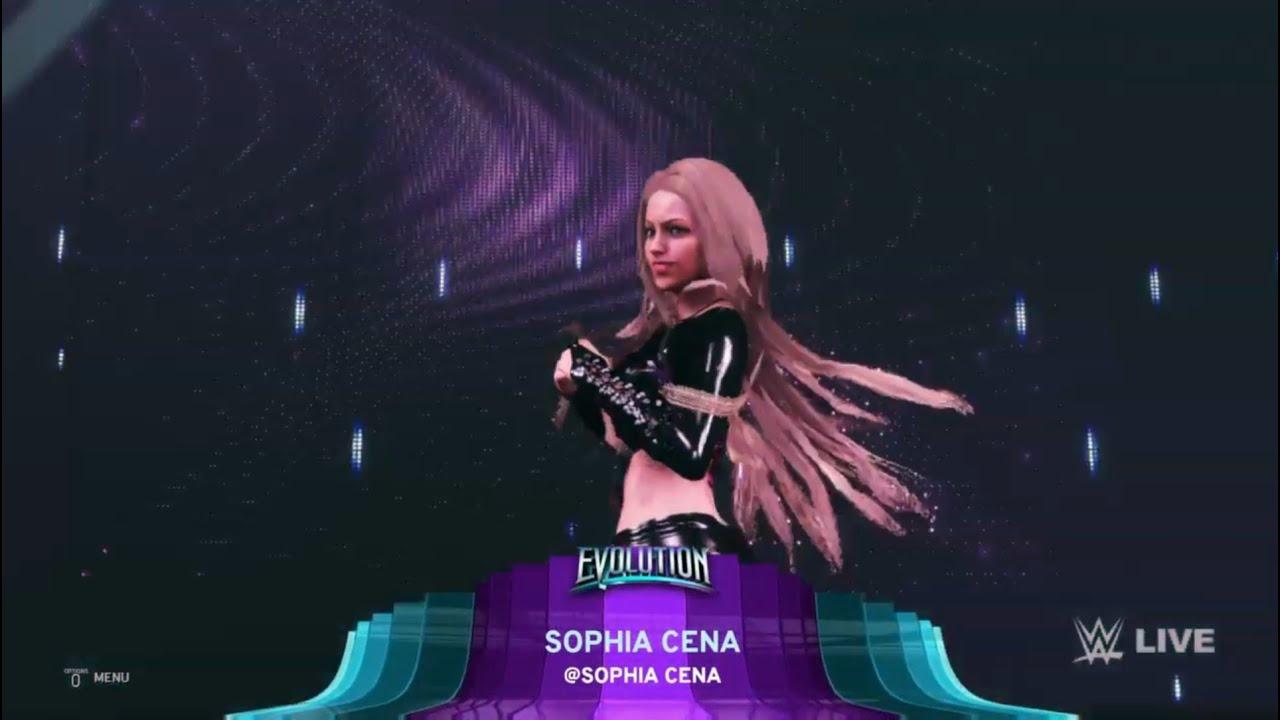 WWE 2K20 - Sophia Cena Entrance // Original and Punk Attires