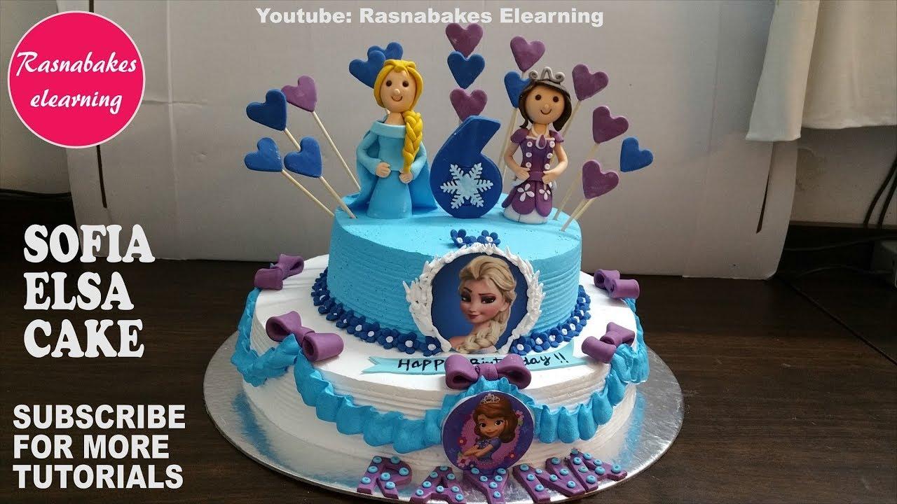 How To Make Princess Sofia The First Elsa Frozen Theme Birthday