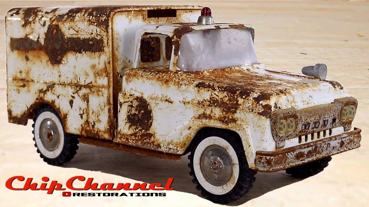 1961 Tonka Rescue Squad Ambulance Restoration