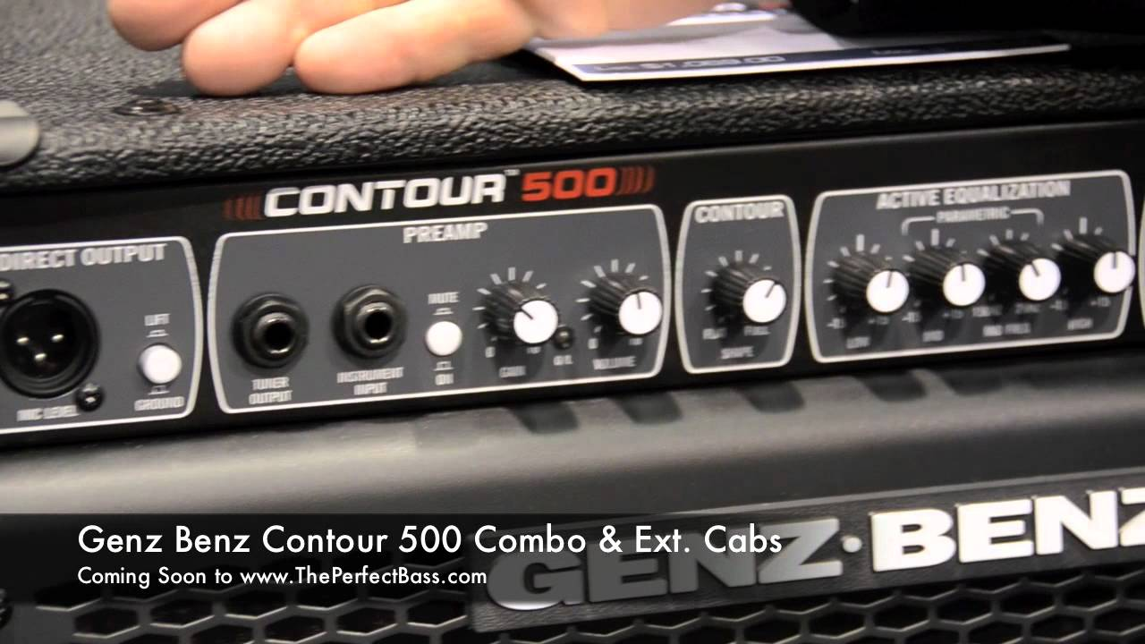 The Perfect Bass Direct From Namm 2012 Genz Benz Contour 500 Combo Extension Cabs