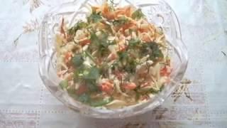 Салат из свежей капусты. Витаминный салат