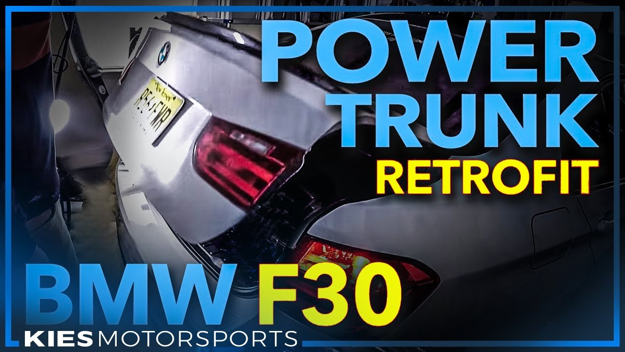 BMW F30 Power Trunk Retrofit DIY, from BimmerTech!