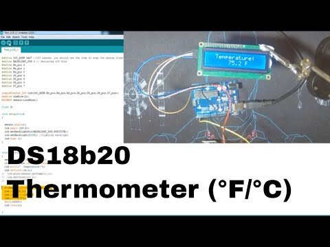 Interfacing DS18b20 with Arduino + LCD to measure
