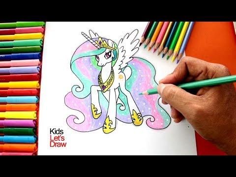 Cómo Dibujar y Pintar a la PRINCESA CELESTIA | Drawing Princess Celestia My Little Pony