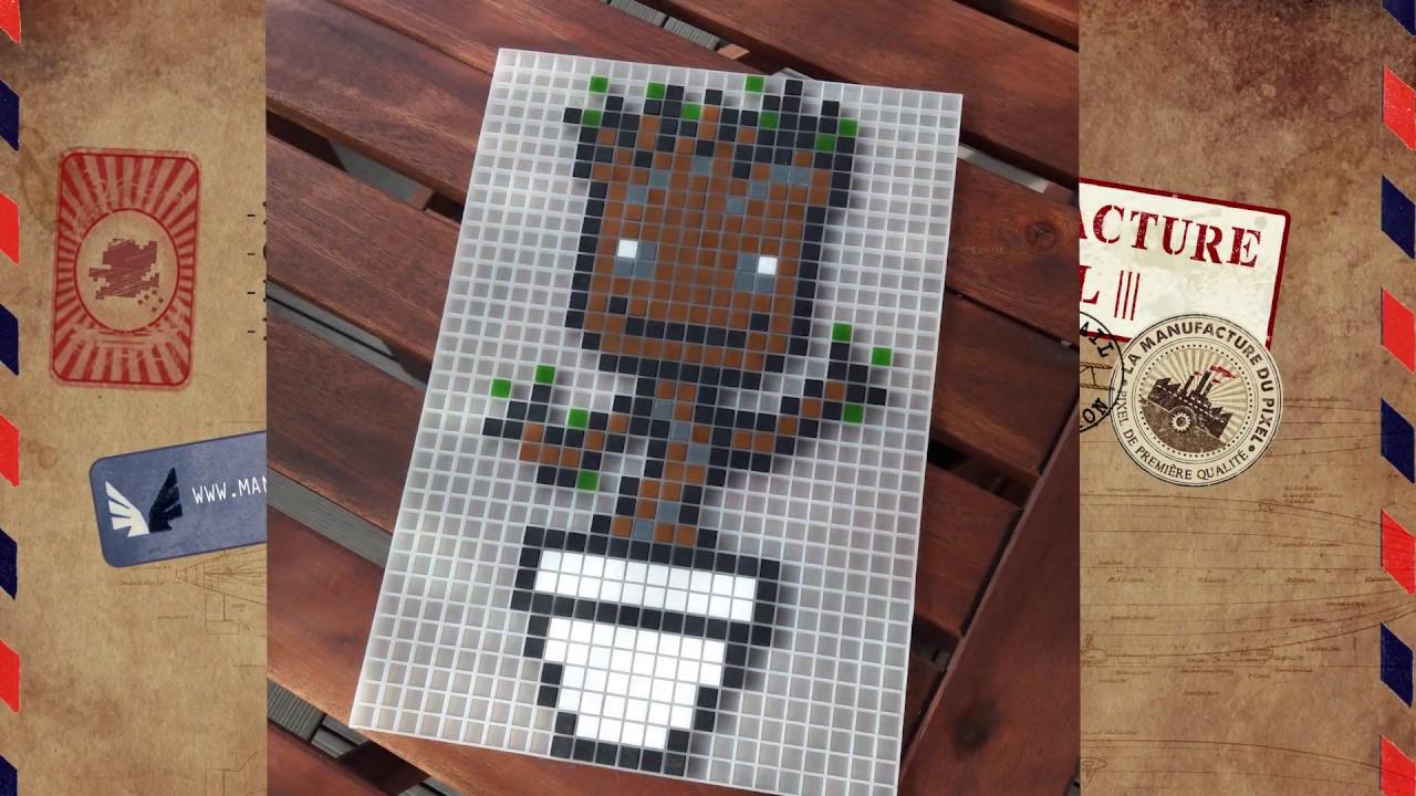 Pixel Art Groot Manufacture Du Pixel