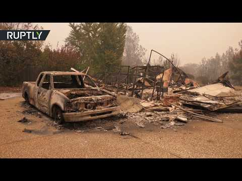 Post-apocalyptic Paradise: Camp Fire razes Californian town to the ground