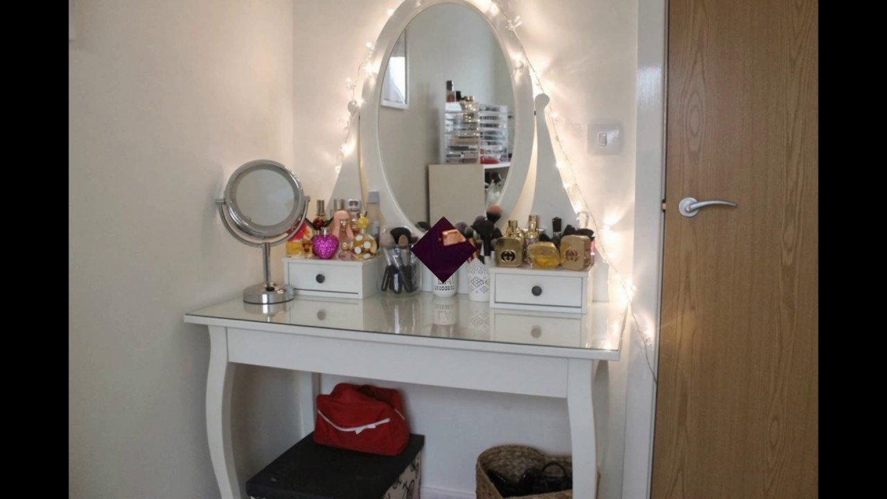 Makeup Table With Mirror And Lights   YouTube