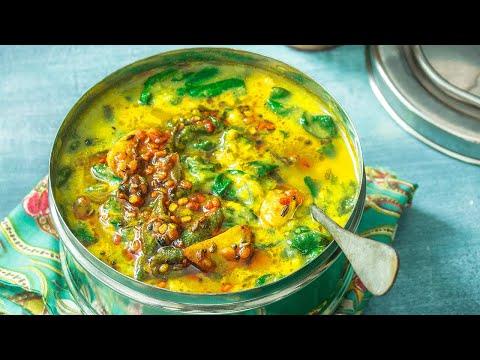 recette-indienne-végétarienne-daal-palak-|-lentilles-₪-pankaj-sharma