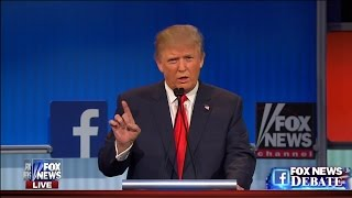 Donald Trump Trades Blows With GOP Foes at First Debate