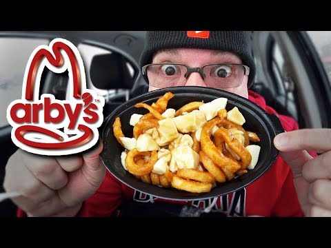 Arby's 🍟 NEW! CURLY FRY POUTINE 🍟 Crispy Fish, OREO Bites & Chocolate Shake Review