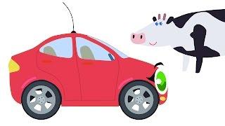 БИБИКА Развивающий мультик для малышей про животных Корова лошадь овца свинья