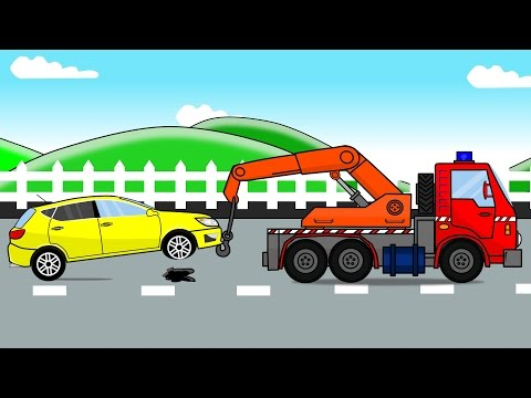Auto Tow Truck and Car Factory | Auto Bajki i Animacja