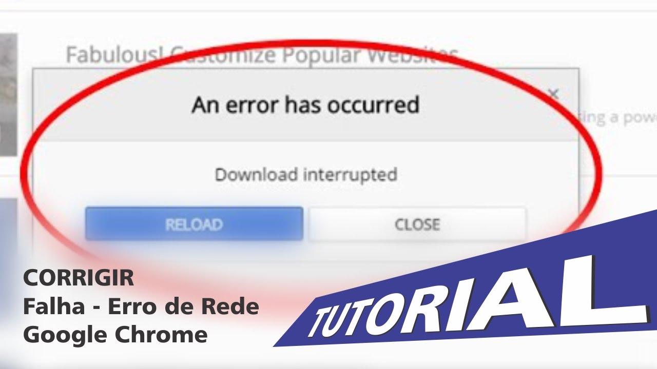Falha Erro De Rede Google Chrome Fix Error Youtube
