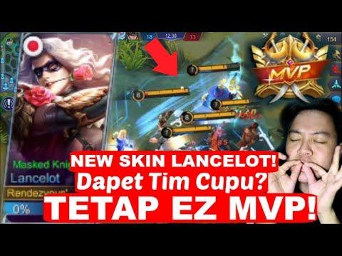 100% Sakit! SKIN BARU LANCELOT = EZ MVP WALAUPUN TIM CUPU! | Mobile Legends