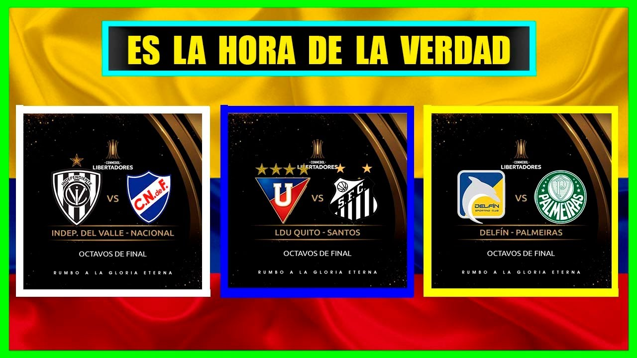 Análisis / Independiente del Valle vs Nacional / Liga vs Santos / Delfín vs Palmeiras