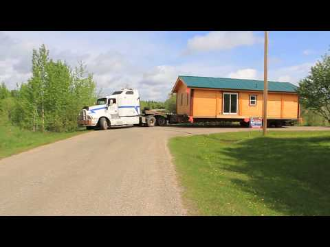 Cabin delivery, Froese Cabin Barrhead,Alberta.